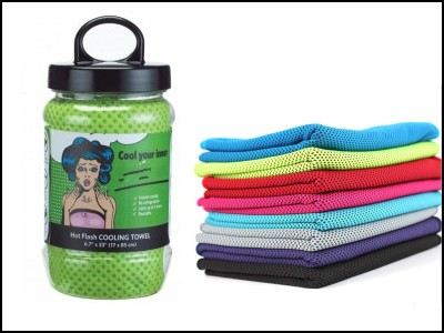 Double side color mesh cooling towel