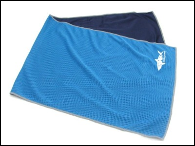 Blue color mesh cooling towel,ice towel